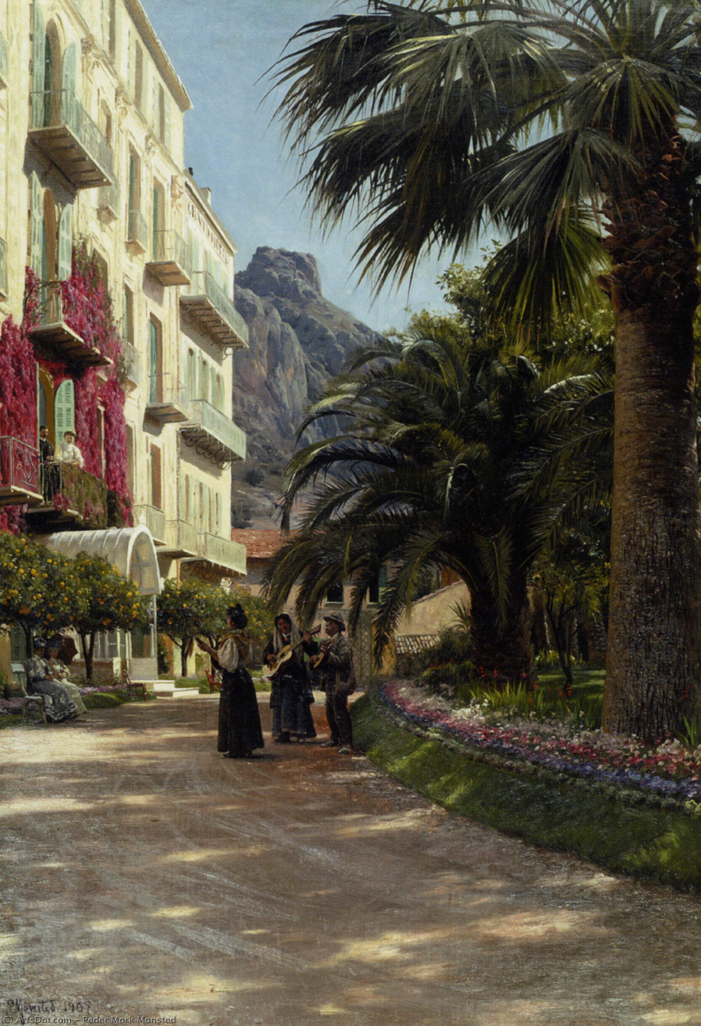 Серенада по Peder Mork Monsted (1859-1941, Denmark) | ArtsDot.com