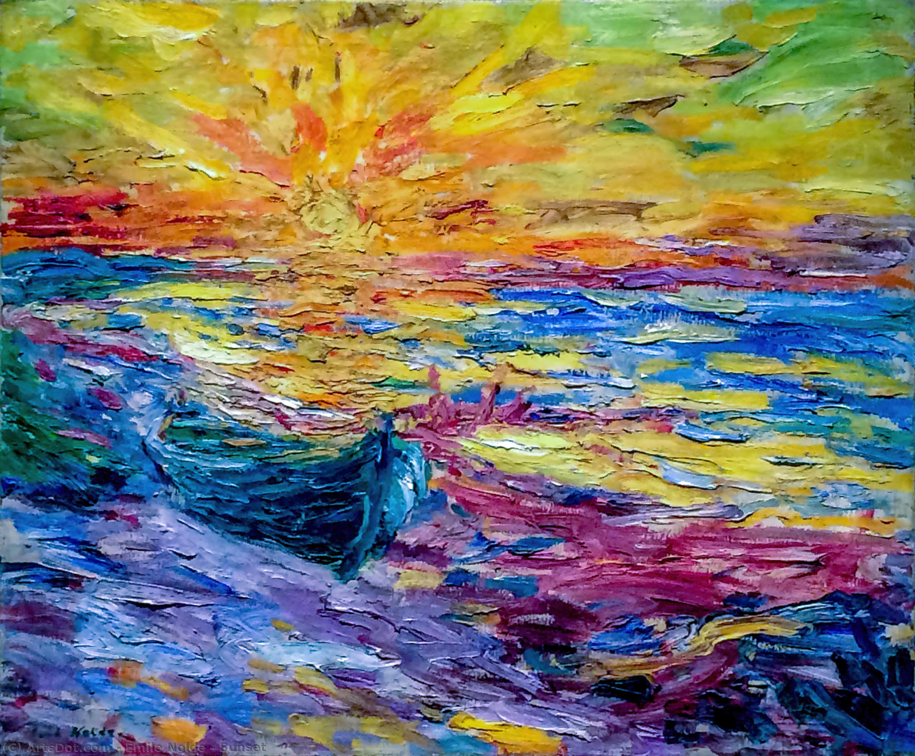 закат по Emile Nolde (1867-1956, Germany)