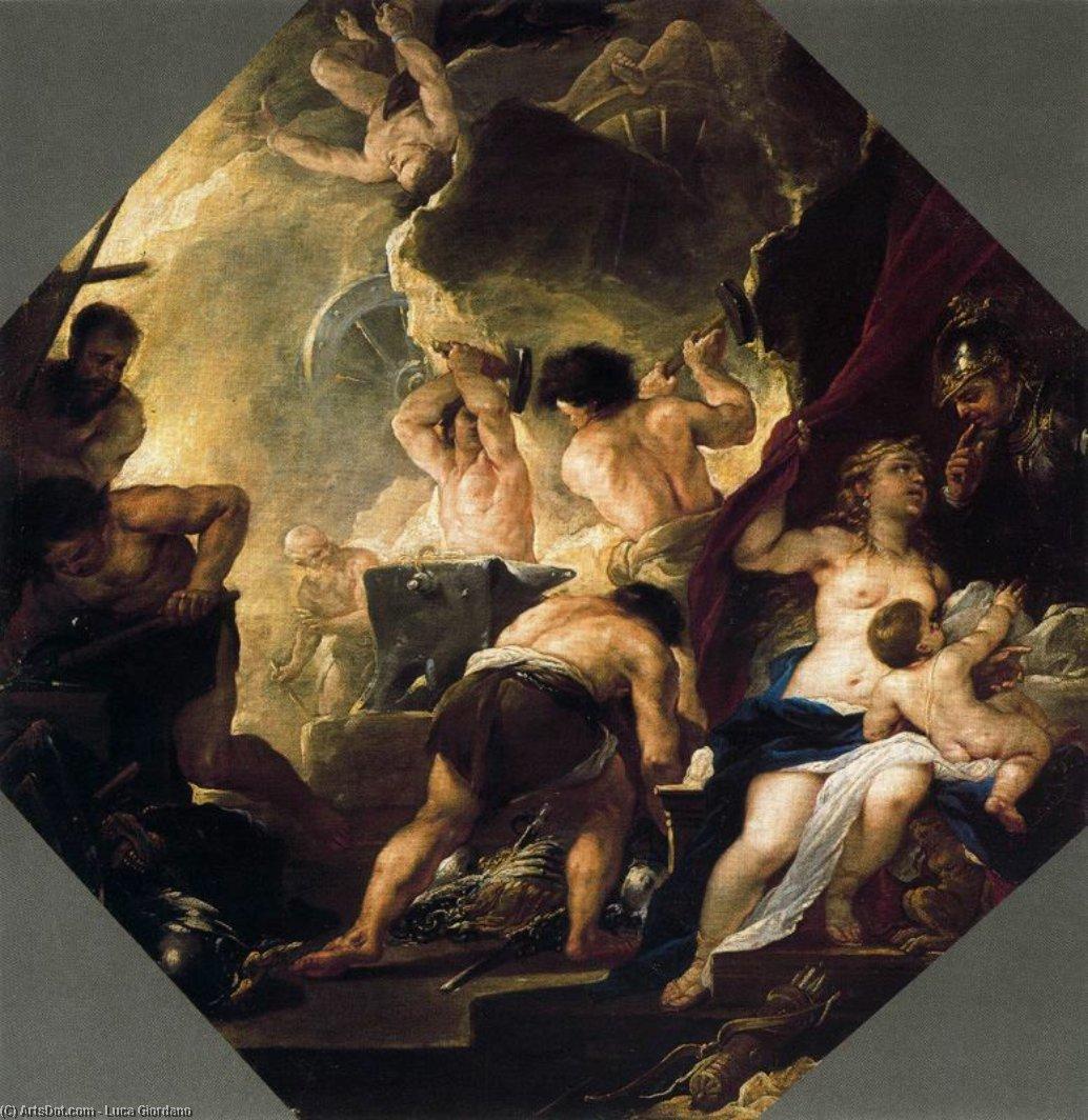Кузница Вулкана по Luca Giordano (1634-1705, Italy)