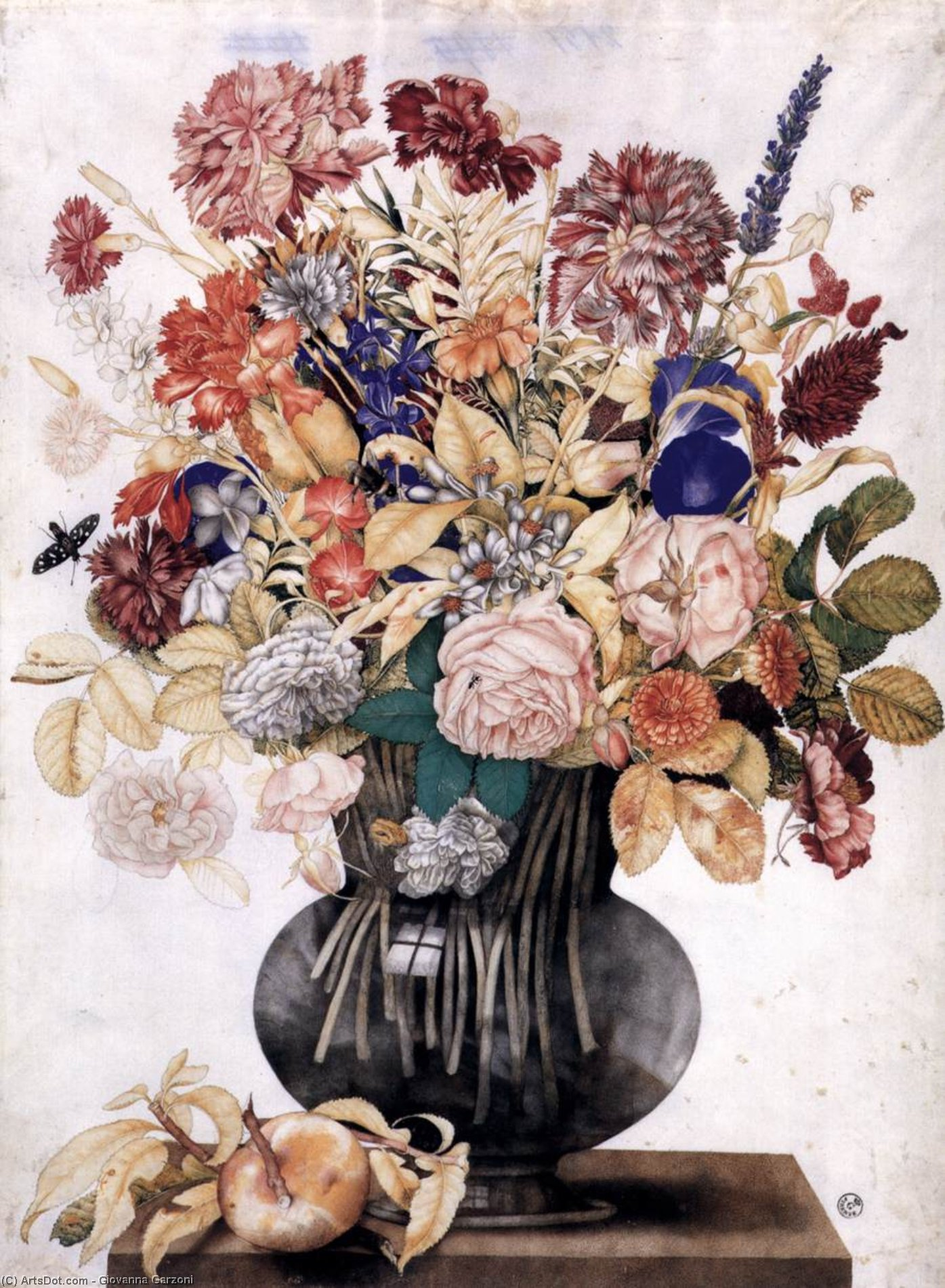 Фото цветы в старинной вазе