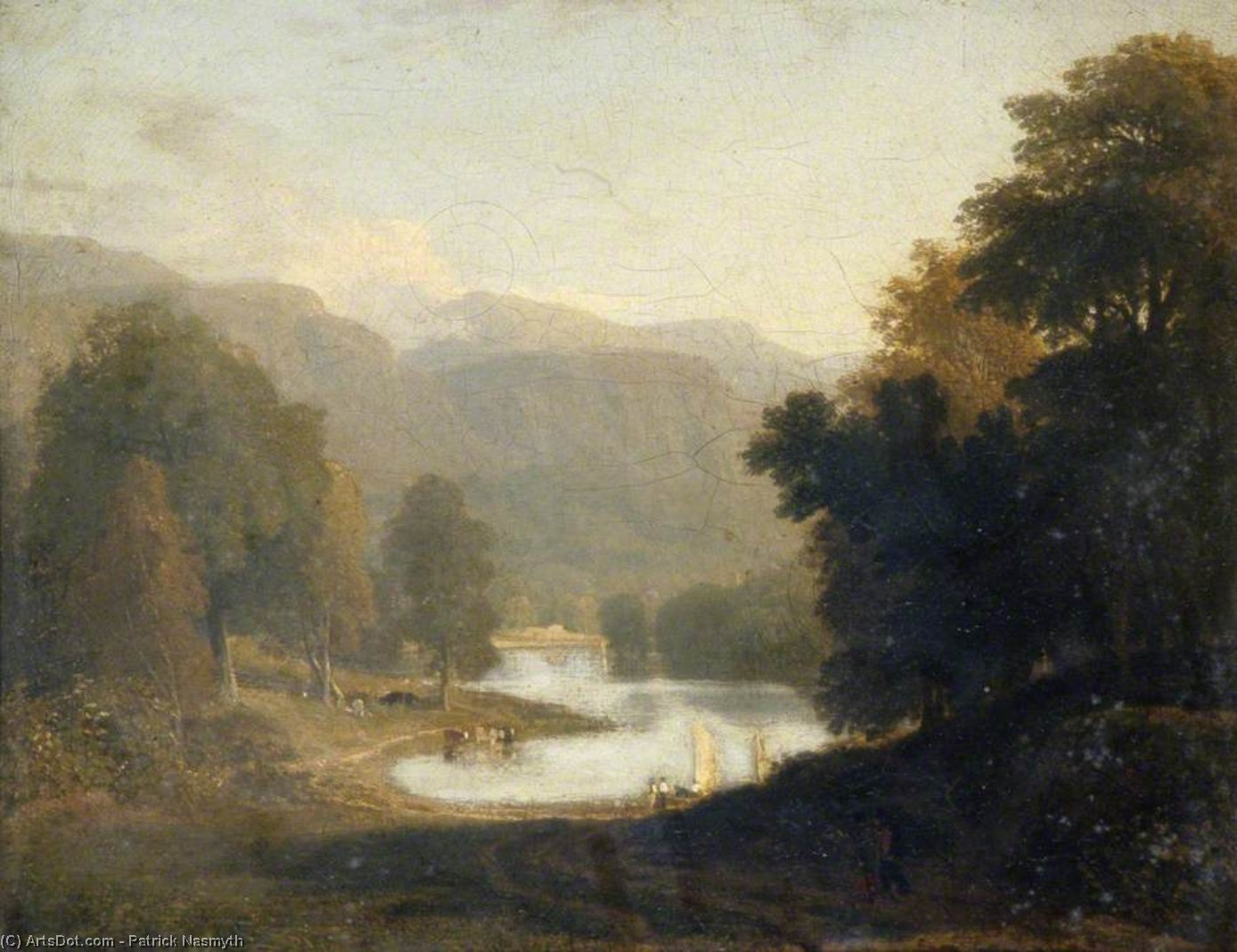 ПЕЙЗАЖ -   по Patrick Nasmyth (1787-1831, United Kingdom)
