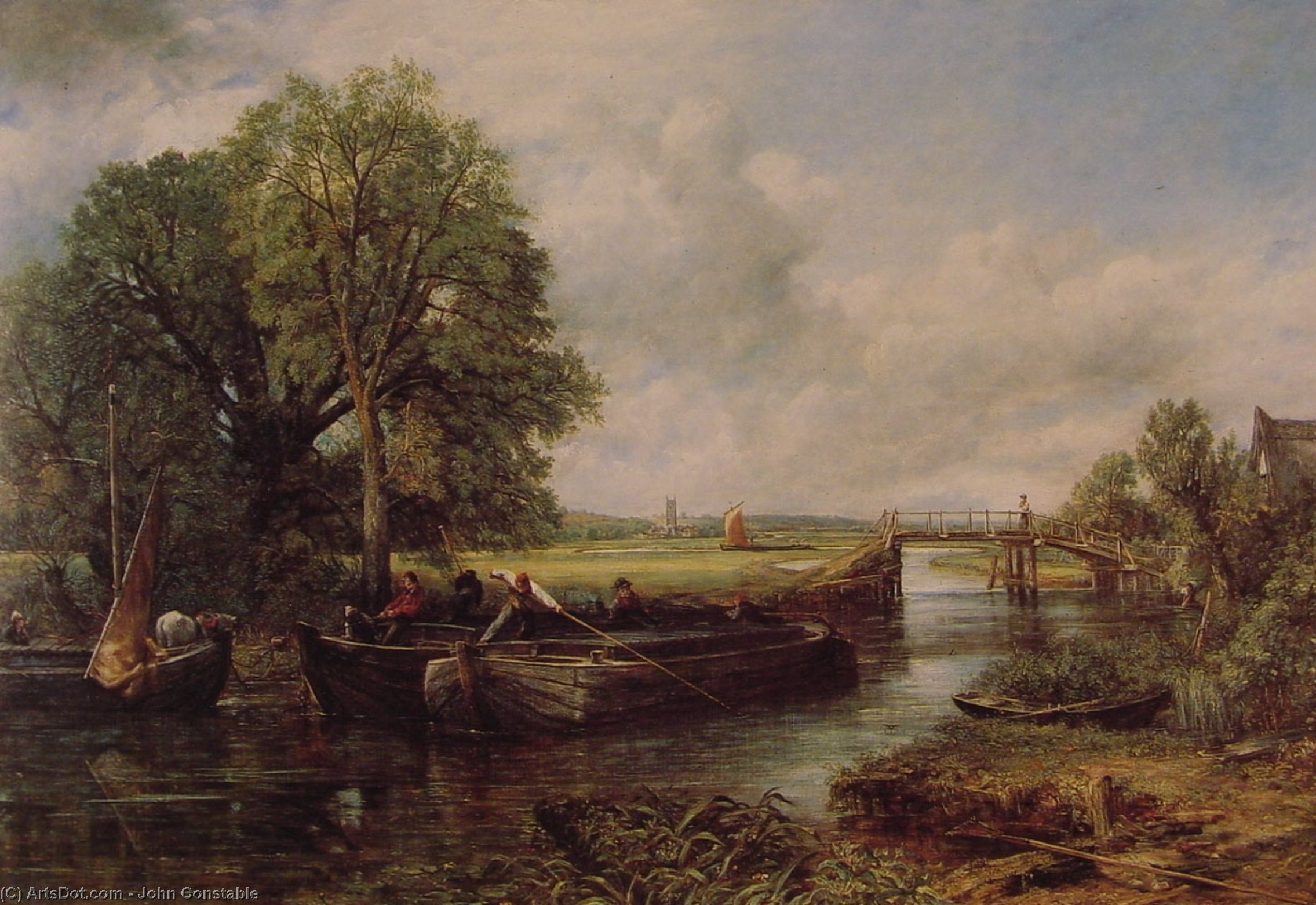 a comparison of the features of romanticism and realism in the works of john constable and honor dau