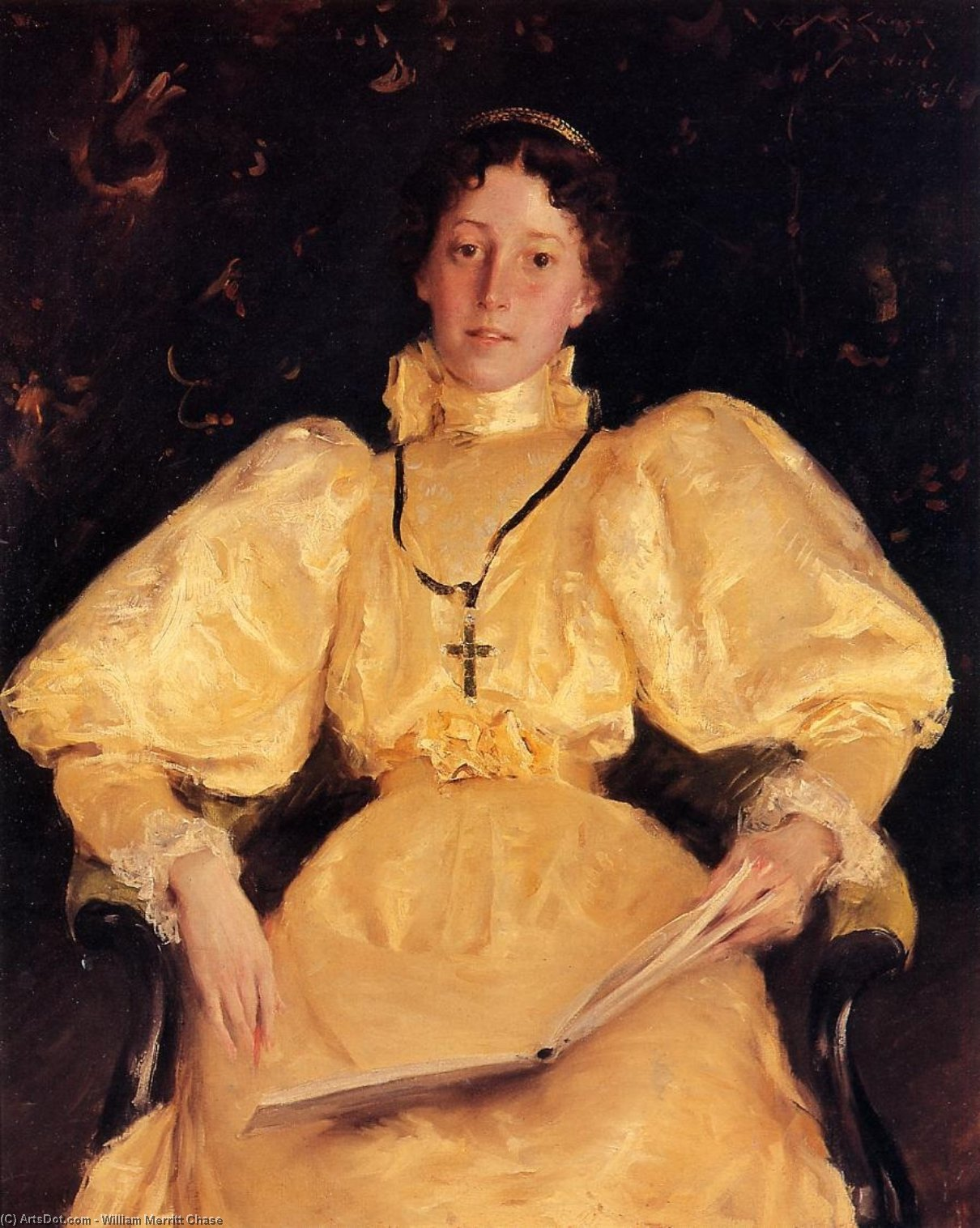 Golden Lady, холст, масло по William Merritt Chase (1849-1916, United States)