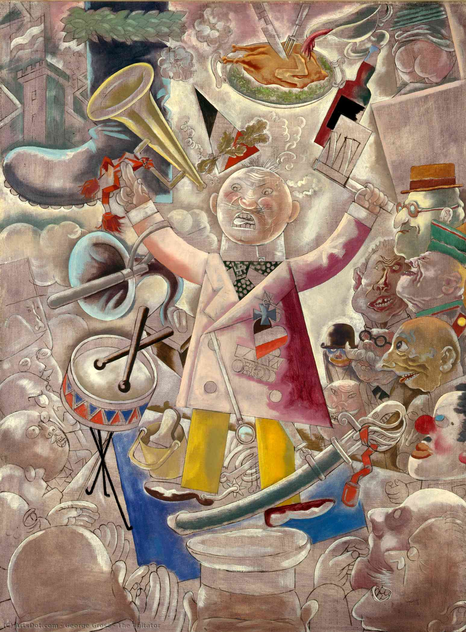 Агитатор, 1928 по George Grosz (1893-1959, Germany) |  | ArtsDot.com