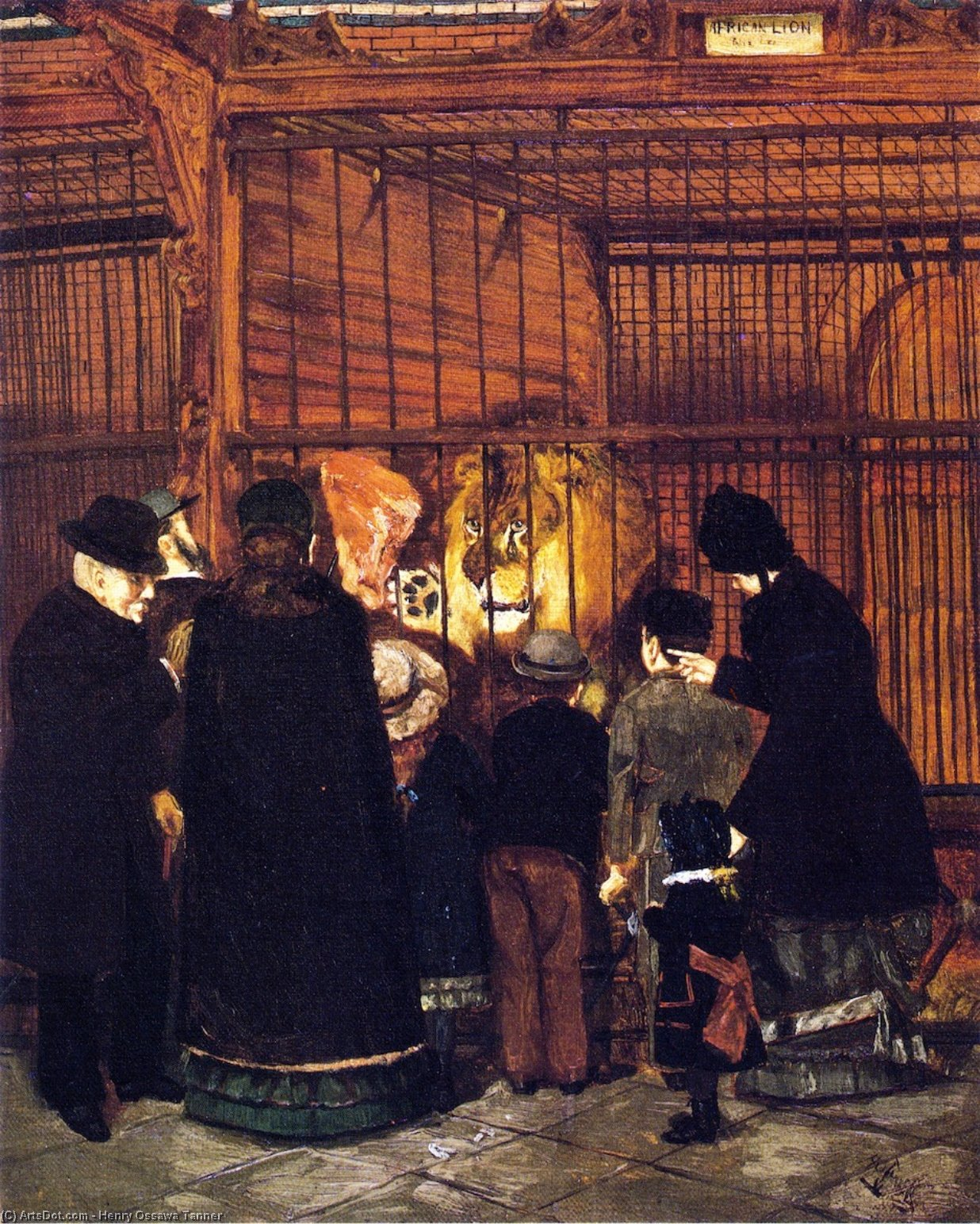Pomp'' на Zoo'', холст, масло по Henry Ossawa Tanner (1859-1937, United States)