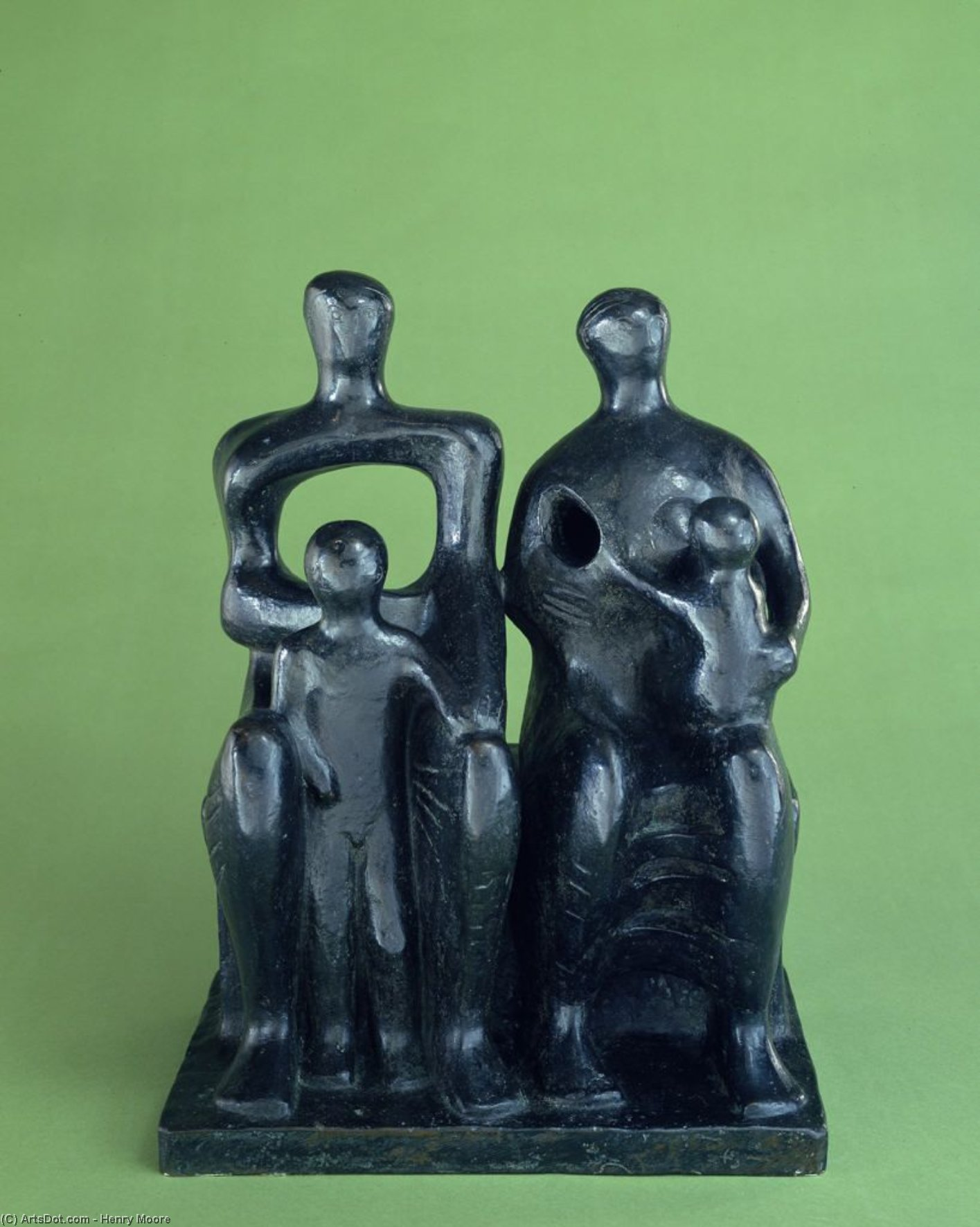 семейный Group1  , СКУЛЬПТУРА по Henry Moore (1898-1986, United Kingdom)