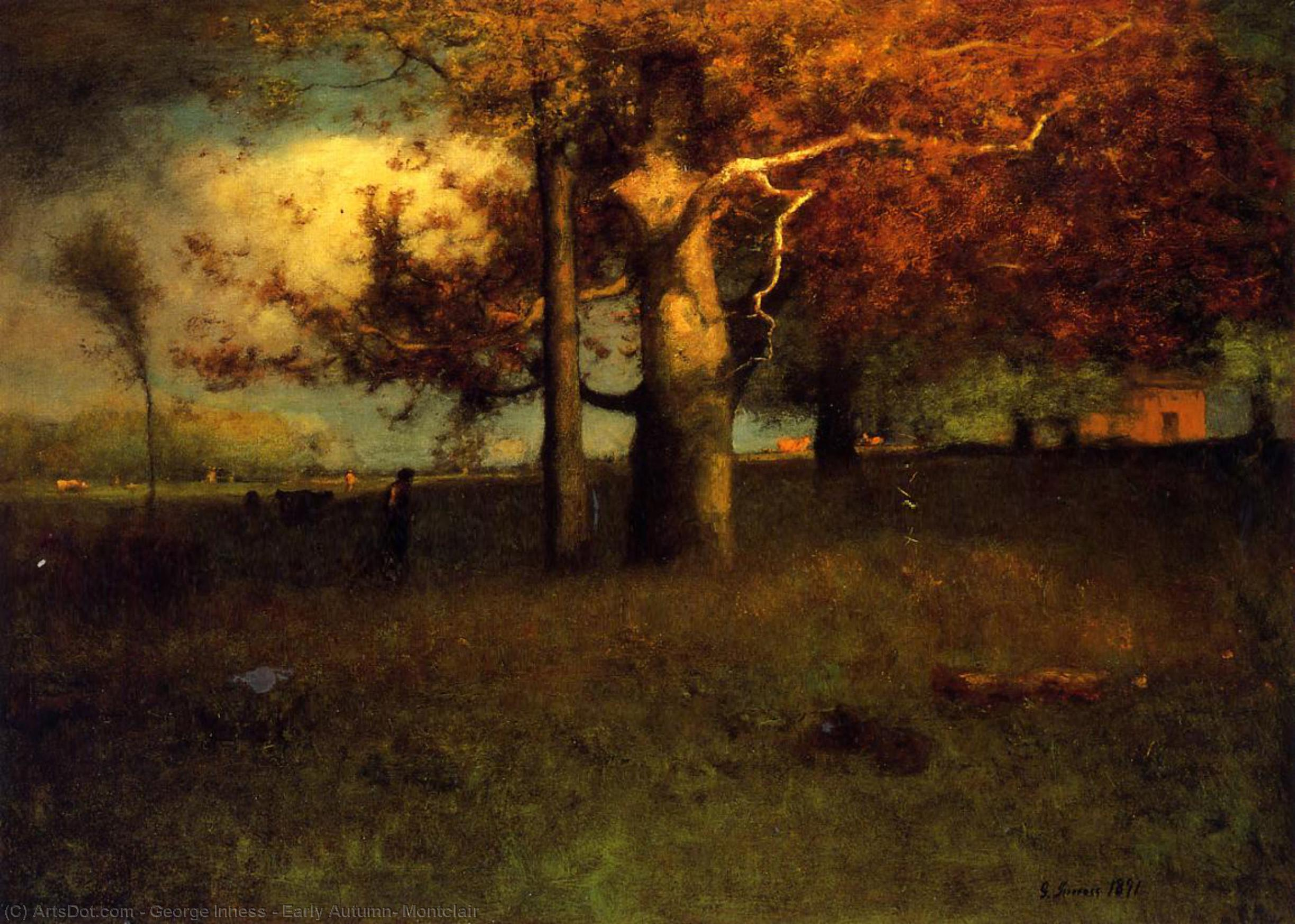 george inness early moonrise - 1000×668