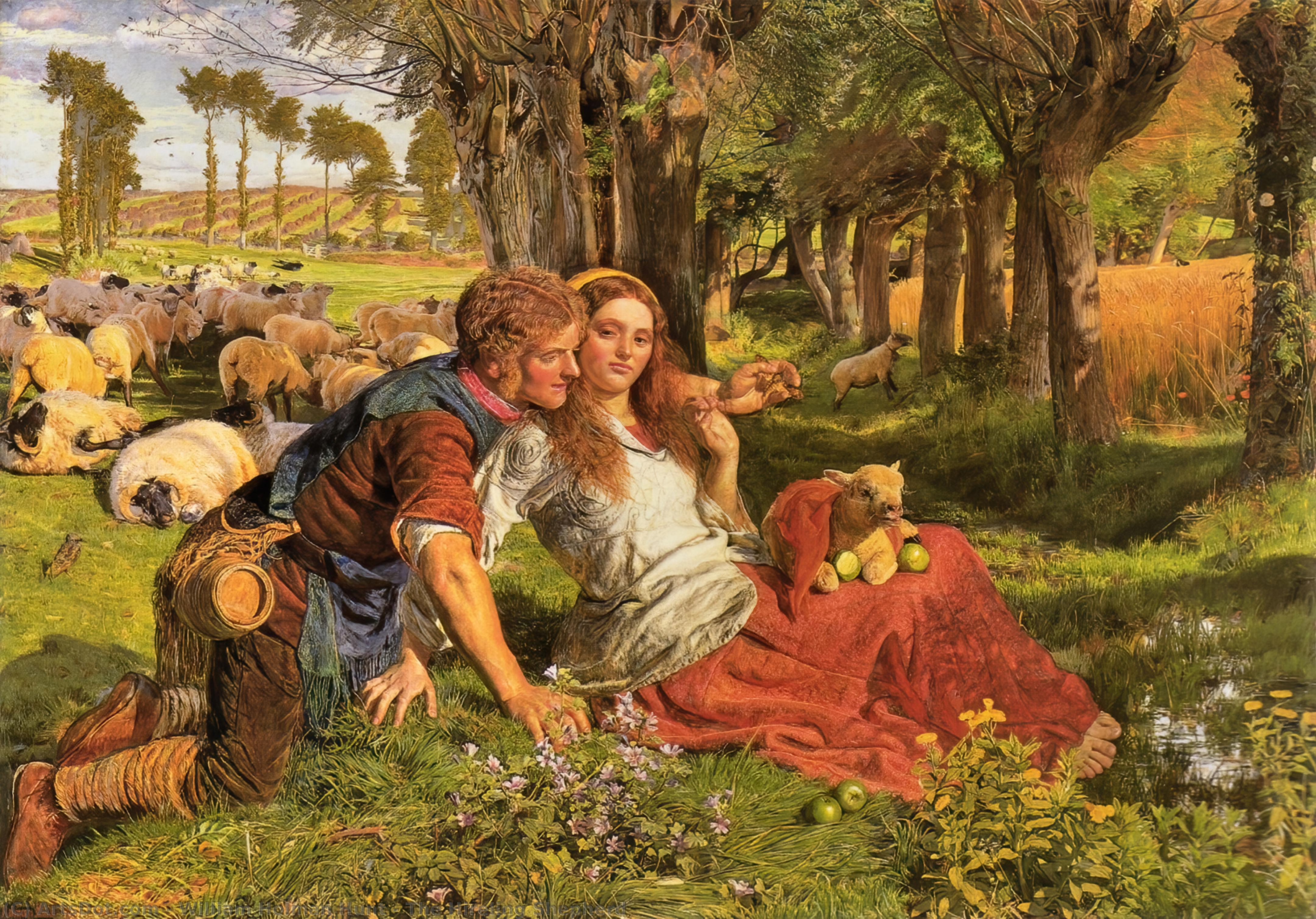 Найм овчарка, 1851 по William Holman Hunt (1827-1910, United Kingdom) | Репродукции Картин William Holman Hunt | ArtsDot.com