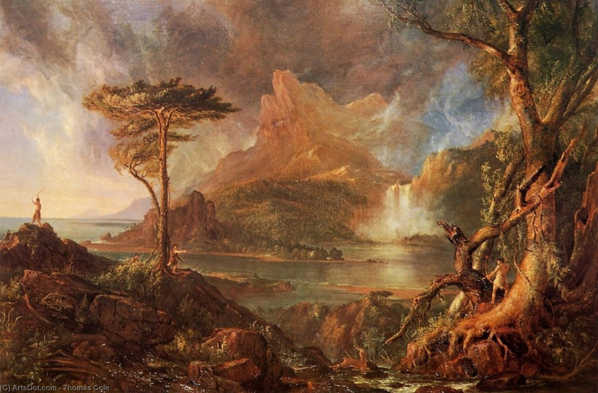 дикий Пейзаж , холст, масло по Thomas Cole (1801-1848, United Kingdom)