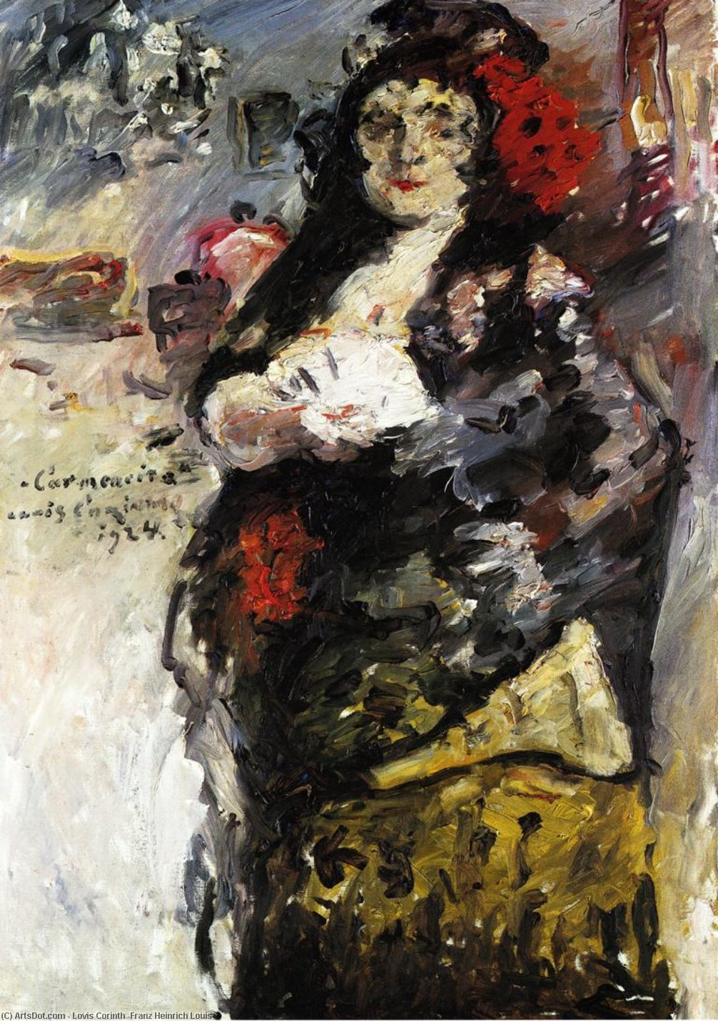 Карменсита, холст, масло по Lovis Corinth (Franz Heinrich Louis) (1858-1925, Netherlands)