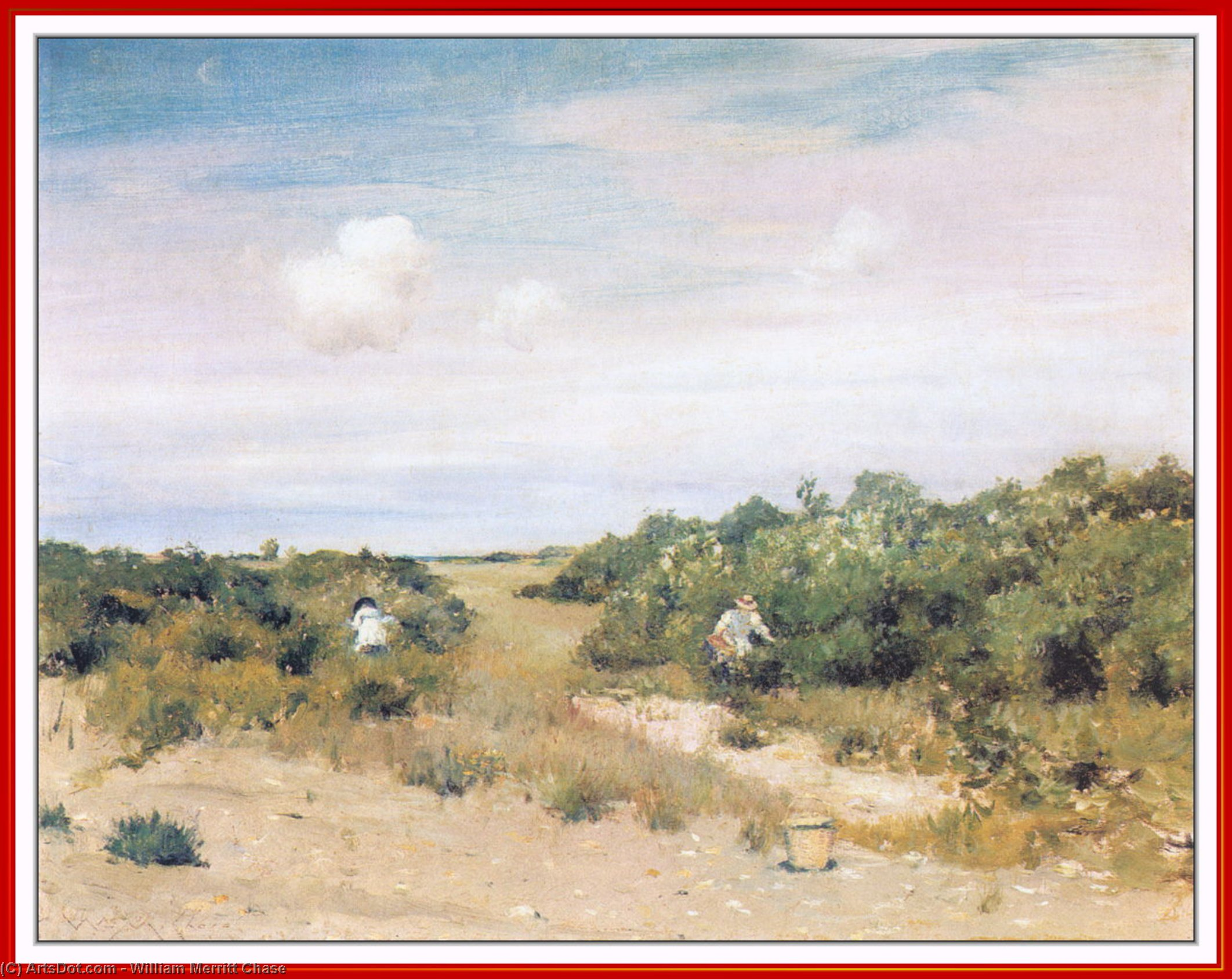 Shinnecock Хиллз лонг-айленд  по William Merritt Chase (1849-1916, United States)