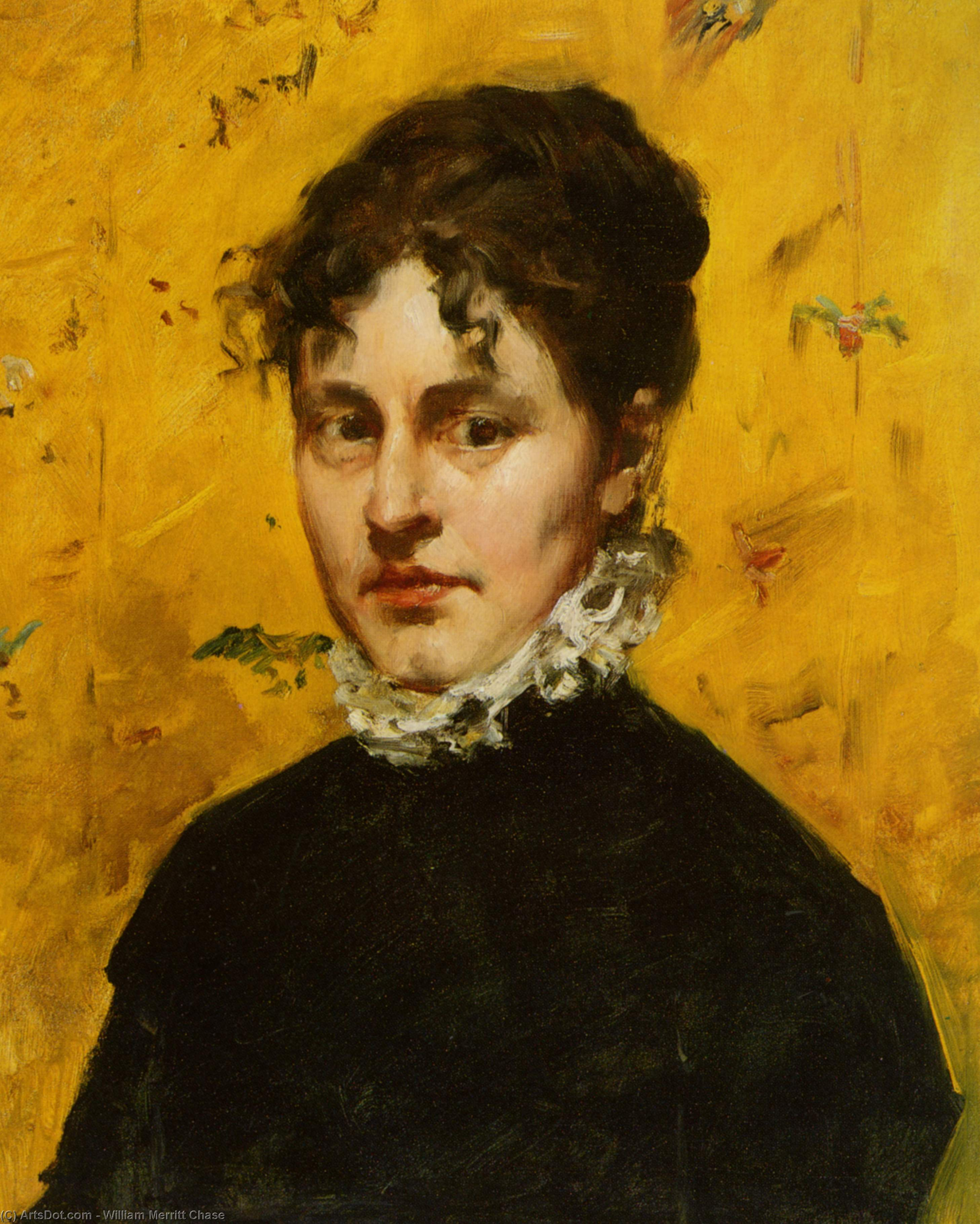 Портрет тот Artist's Sister-in-Law, холст, масло по William Merritt Chase (1849-1916, United States)