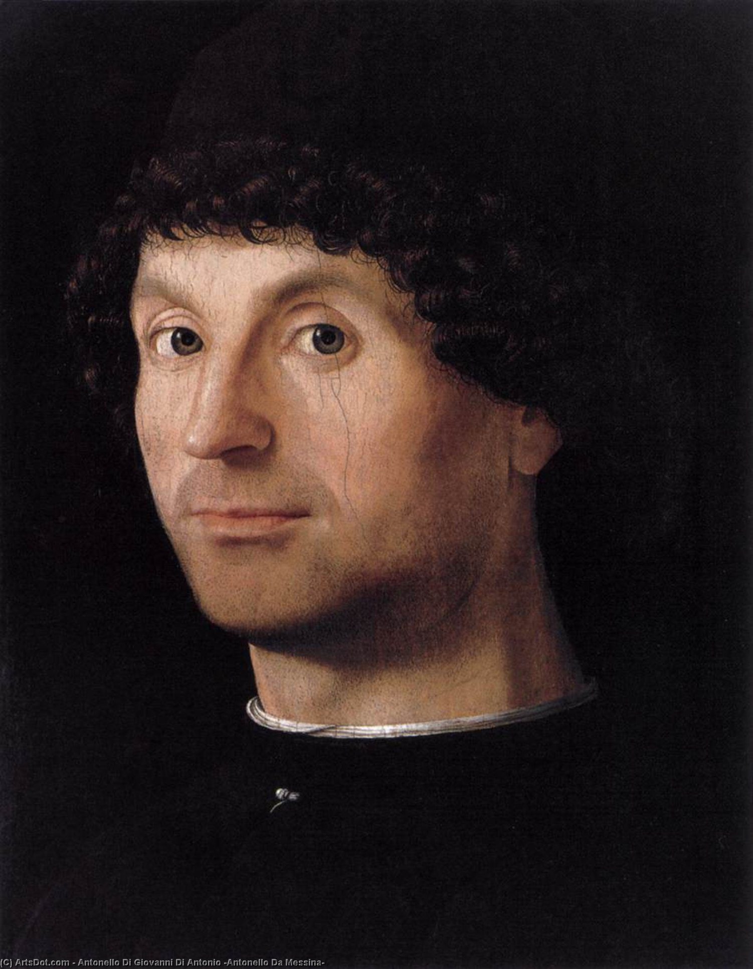 Портрет мужчины, Масло на панели по Antonello Di Giovanni Di Antonio (Antonello Da Messina) (1430-1479, Italy)