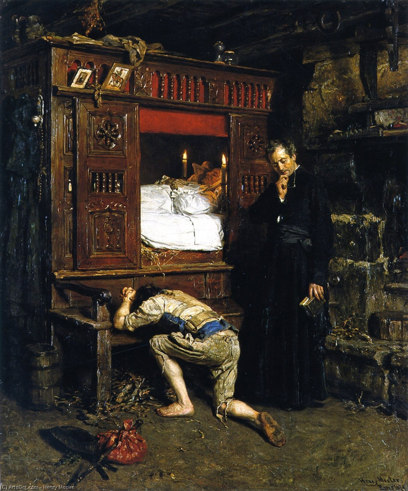 Возвращение блудного сына, 1879 по Henry Mosler (1841-1920, Poland) | Репродукции Произведений Искусства Henry Mosler | ArtsDot.com