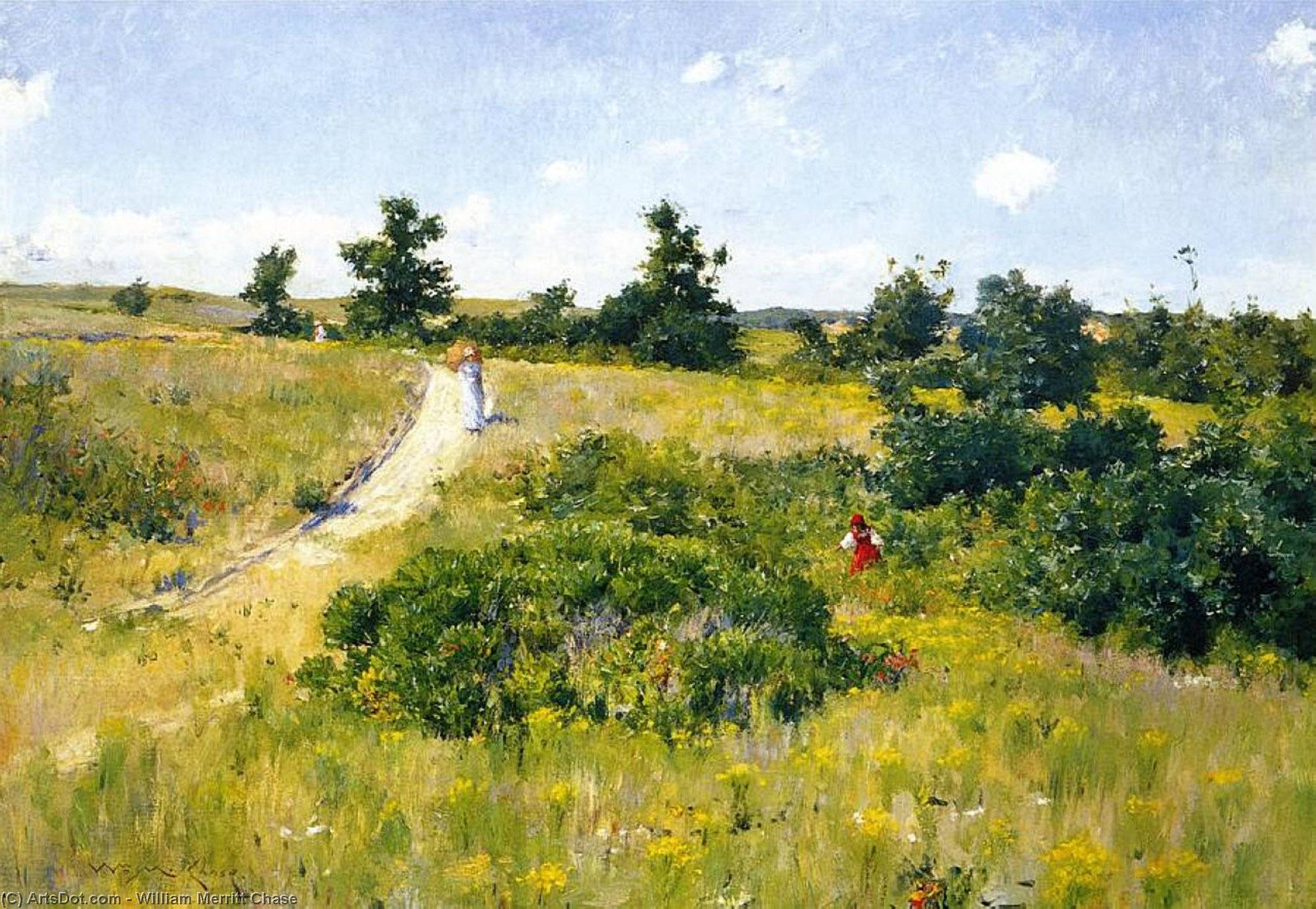 Shinnecock Пейзаж с  Фигуры , 1895 по William Merritt Chase (1849-1916, United States)