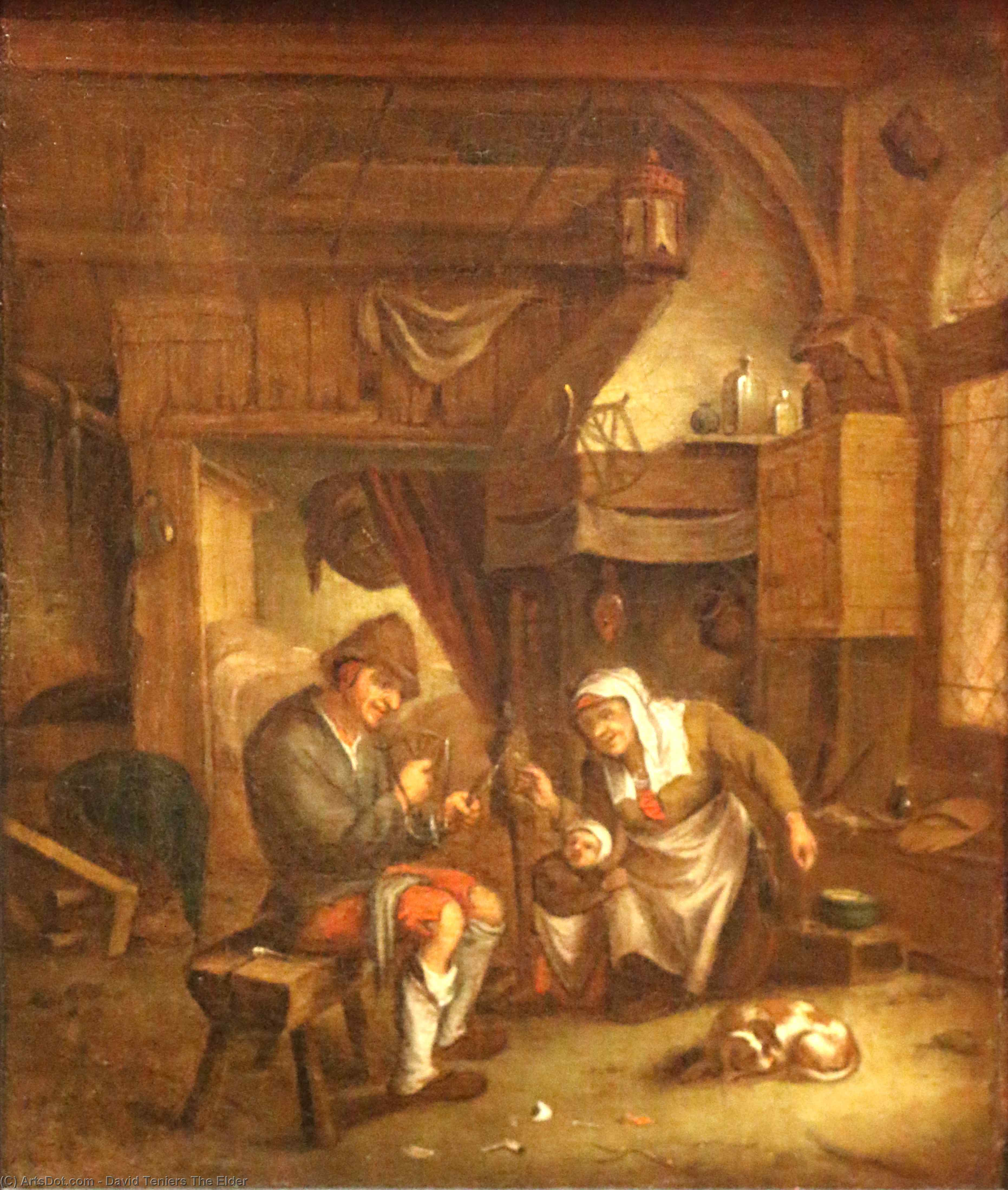 Dutch-old интерьер по David Teniers The Elder (1582-1649, Belgium)