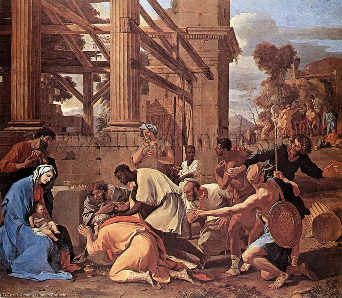 a look at nicolas poussin and the roman influence in france Nicolas poussin was a famous except for a brief period when he served as first painter to the king in france poussin was a there was a distinct influence of.