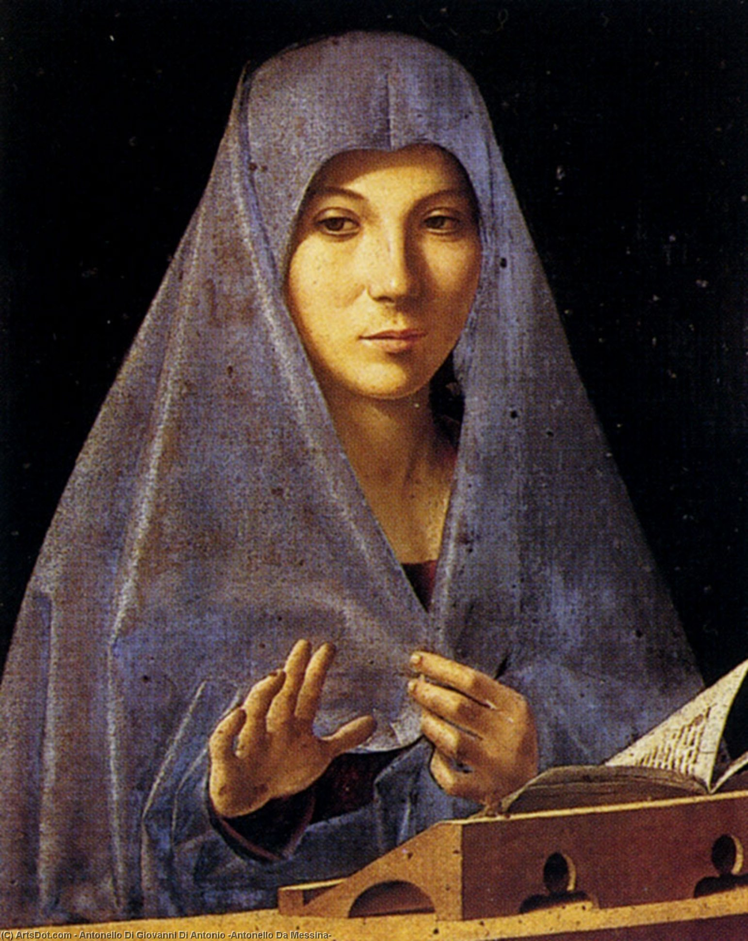 Благовещение, Масло по Antonello Di Giovanni Di Antonio (Antonello Da Messina) (1430-1479, Italy)