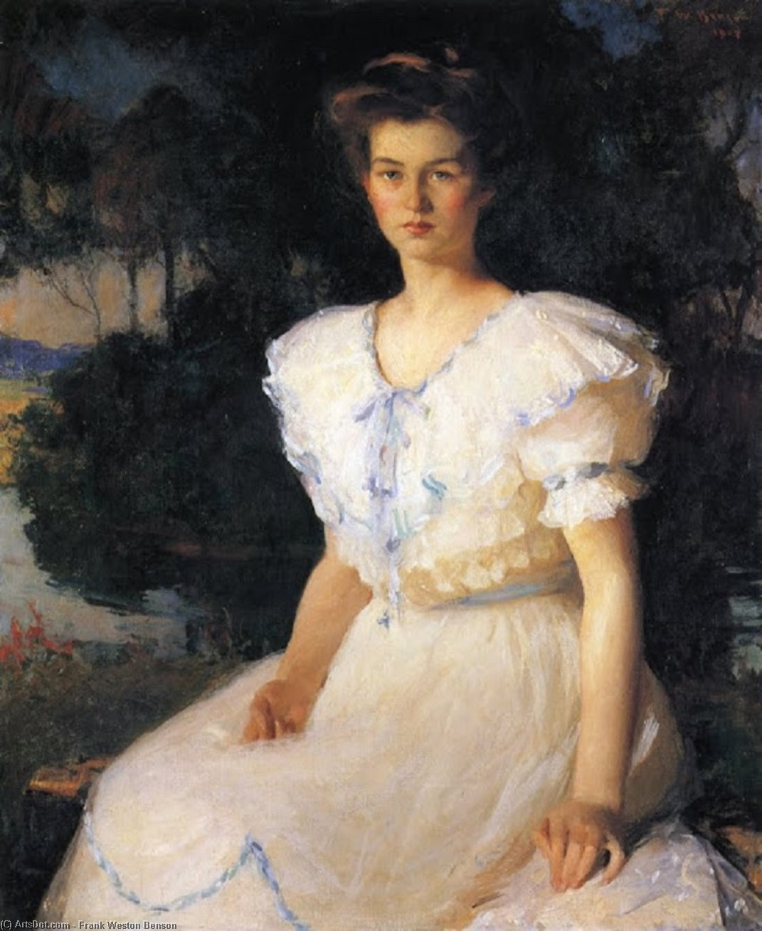 Дороти Линкольн, Масло по Frank Weston Benson (1862-1951, United States)