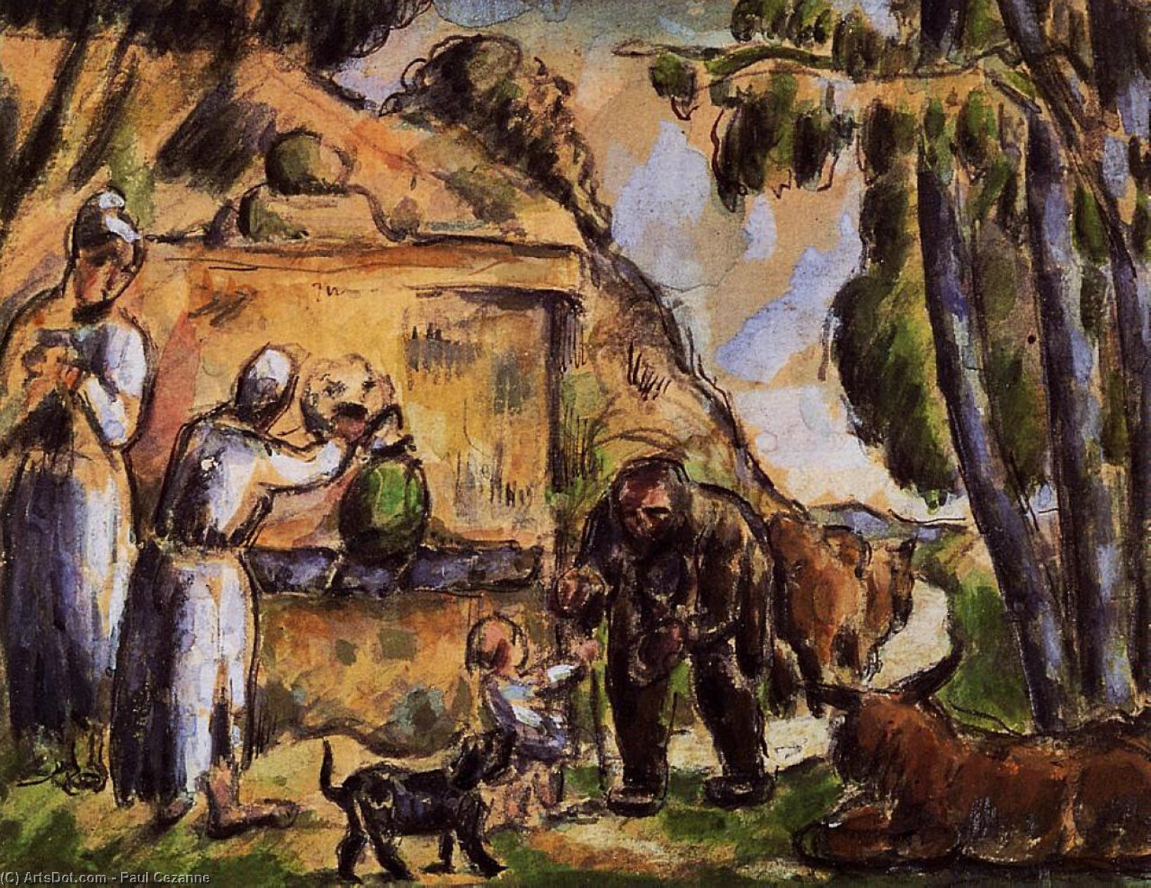Фонтан по Paul Cezanne (1839-1906, France) | Репродукции Музея | ArtsDot.com