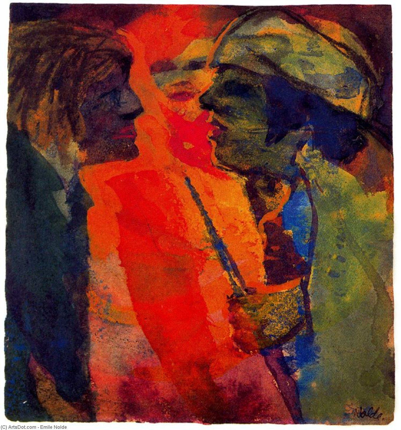 Спор по Emile Nolde (1867-1956, Germany)