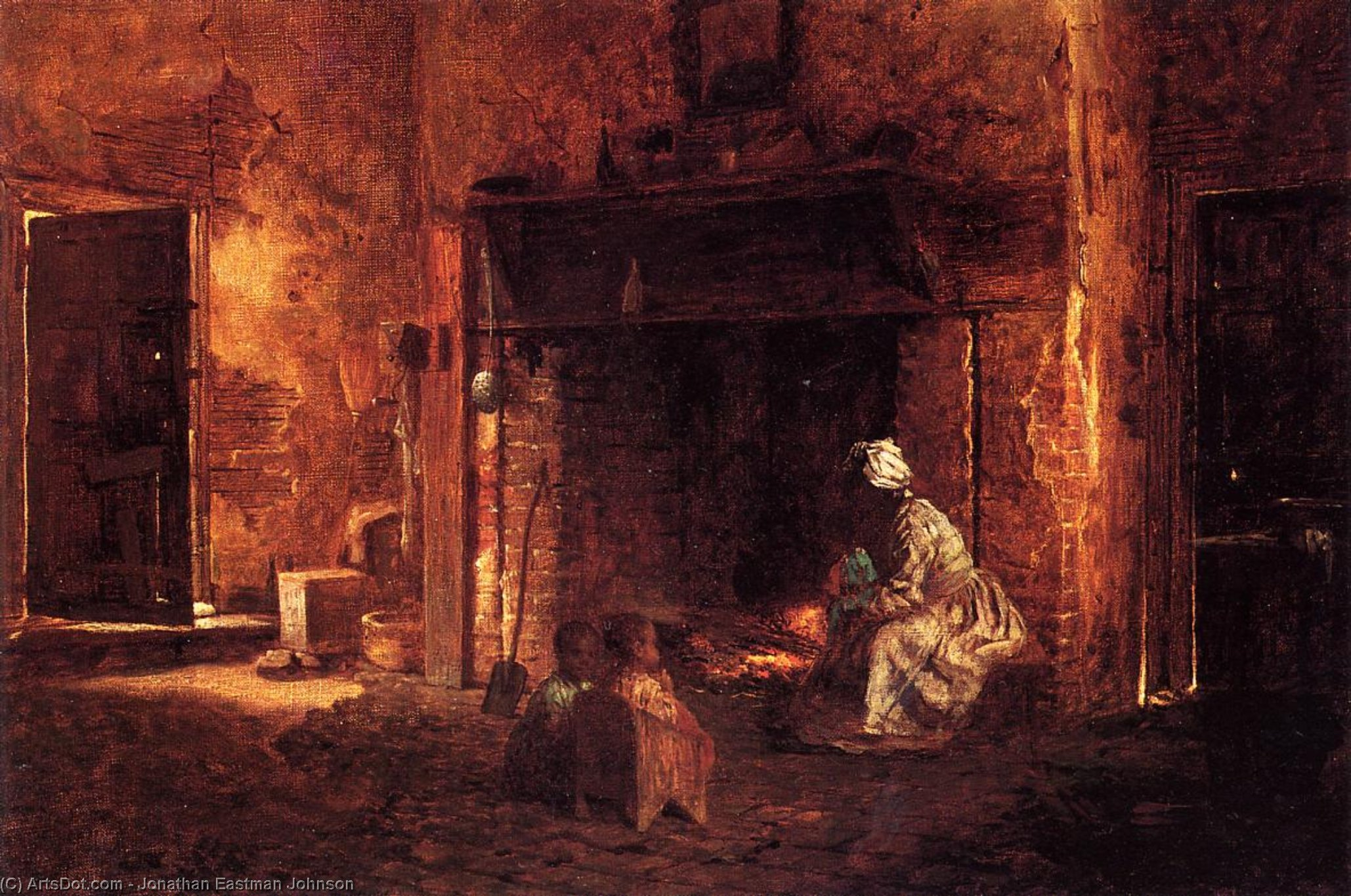 Кухня в Маунт-Вернон по Jonathan Eastman Johnson (1824-1906, United Kingdom) | ArtsDot.com