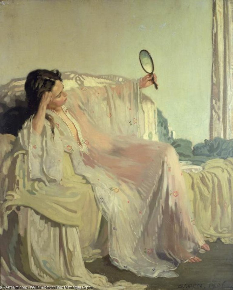 Восточная платье, 1906 по William Newenham Montague Orpen (1878-1931, Ireland)