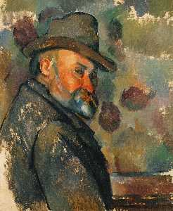 Paul Cezanne - Self-Portrait в мягкой шл..