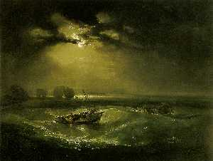 William Turner - рыбаки на море