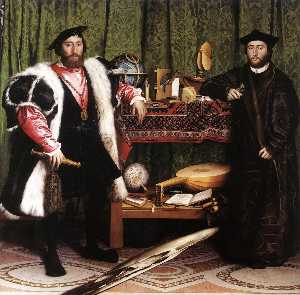 Hans Holbein The Younger - жан-де-dinteville и жорж ..