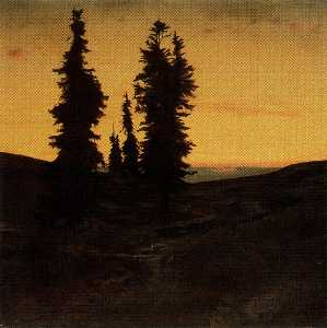 Arnold Bocklin - Sapins а.е. солей couchan..