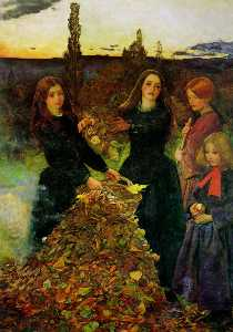John Everett Millais - Осенние листья
