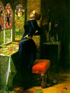 John Everett Millais - Марьяна в Moated Grange