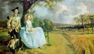 Thomas Gainsborough - Г-н и г жа  Эндрюс