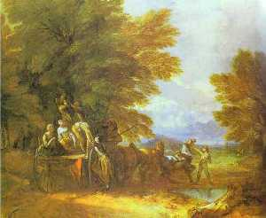 Thomas Gainsborough - Урожай вагон