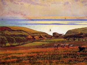 William Holman Hunt - Fairlight Спусков , солне..