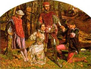 William Holman Hunt - Валентина Сильвия от Prot..