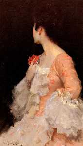 William Merritt Chase - Портрет дамы