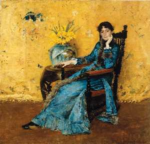 William Merritt Chase - Портрет мисс Дора Уилер