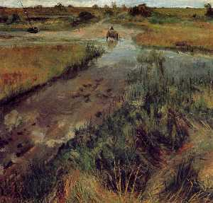 William Merritt Chase - Опухание поток в Shinneco..