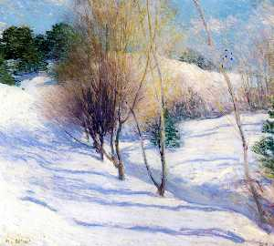 Willard Leroy Metcalf - Зима в Нью-Гемпшире