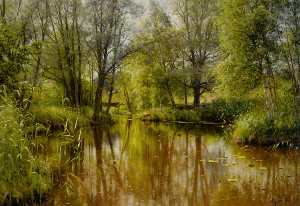 Peder Mork Monsted - Alandskab я Solskin Ан Forarsd..