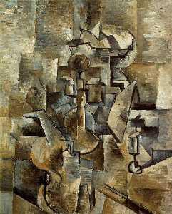 Georges Braque - Скрипка и свеча