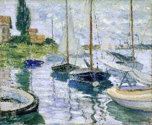Claude Monet - Boats at rest ,  at Petit-Gennevilliers