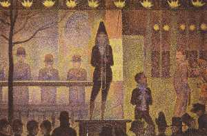 Georges Pierre Seurat - цирк sideshow