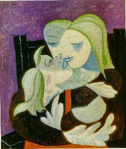 Pablo Picasso - Мать и ребенок ( Marie-Therese и майя )