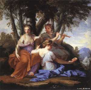 Brother Lesueur (Eustache Le Sueur) - музы : Clio , Эвтерпа и thalia