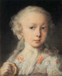 Rosalba Carriera - молодая леди самого  тот  ле  ..