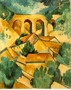 Georges Braque - Виадук года в  L_Estaque ..
