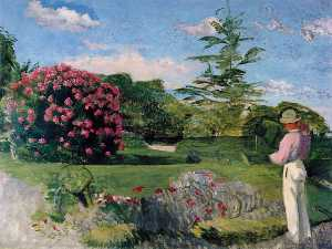 Jean Frederic Bazille - Ле малый jardinier , кали..